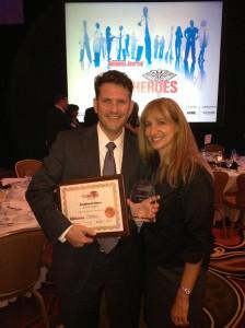 Jonathan and Amy Fleece at the TBBJ-HCH-Award-2012